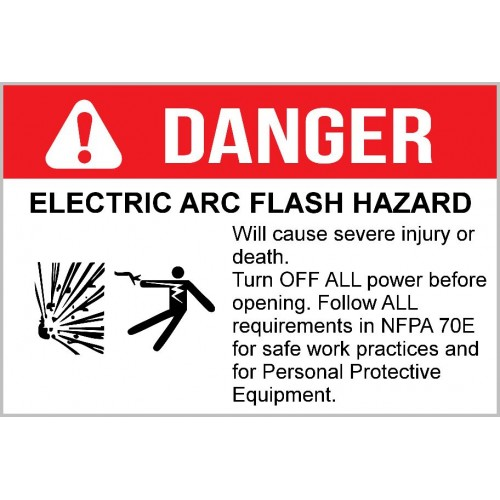 Danger - Electric Arc Flash Hazard
