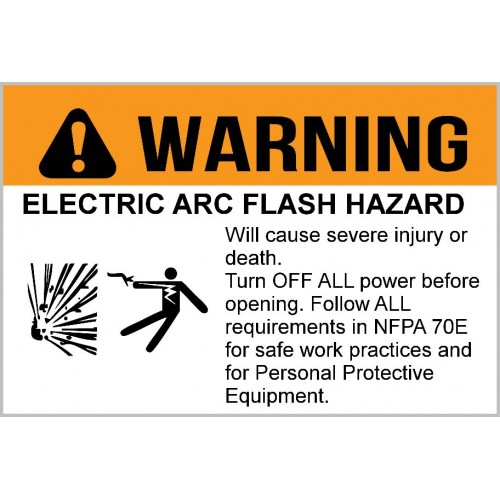 Warning - Electric Arc Flash Hazard