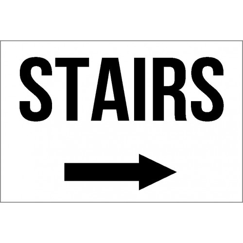 Stairs (Right) Sign