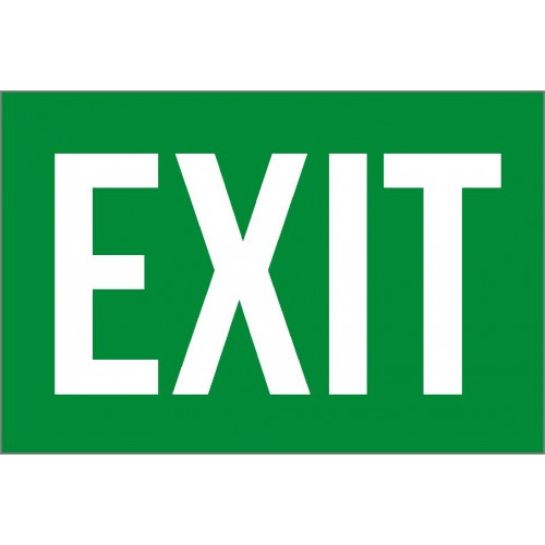 Exit Green Sign