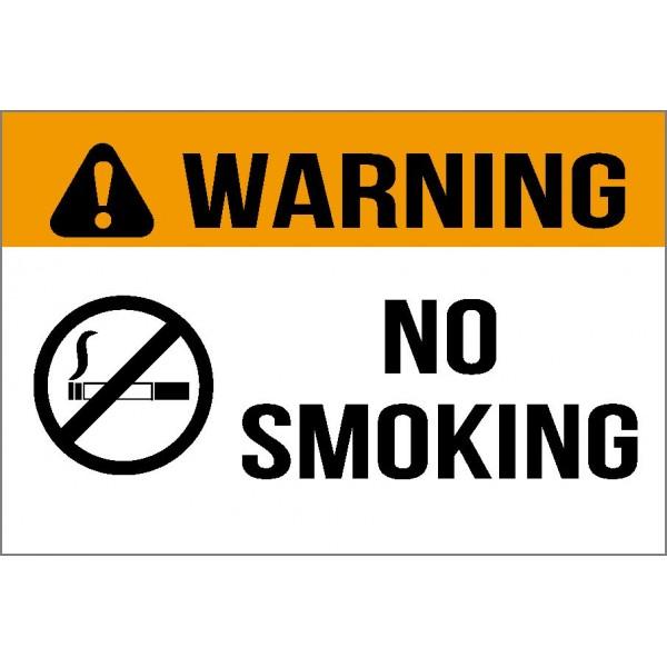 No Smoking Safety Sign 300x140mm Self Adhesive Sticker