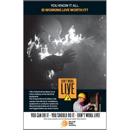 Don't Work Live Poster