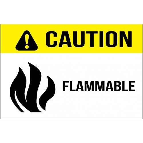 Caution - Flammable Sign