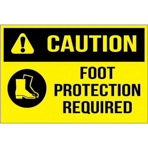 Caution - Foot Protection Required Sign