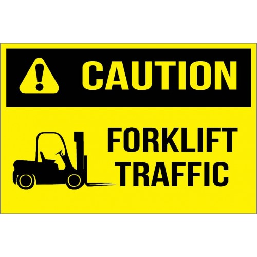 Caution - Forklift Traffic Sign