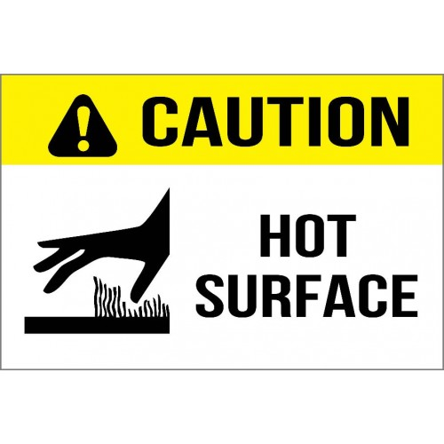 Caution - Hot Surface Sign