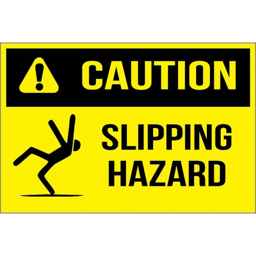 Caution - Slipping Hazard Sign